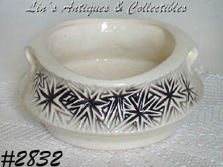 McCOY POTTERY -- STARBURST PLANTER DATED 1968