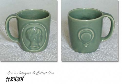McCOY POTTERY VINTAGE RHO-GAM ORTHO CUP