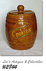 McCOY POTTERY -- LARGER SIZE COOKIE BARREL COOKIE JAR