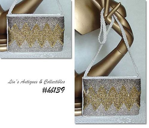 BEAUTIFUL BEADED HANDBAG EVENING BAG