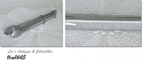 ALUMINUMWARE -- VINTAGE MARATHON ICE TONGS ADVERTISING PREMIUM