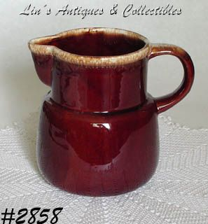 McCOY POTTERY -- BROWN DRIP PITCHER