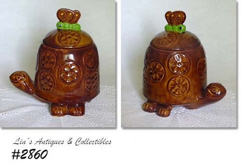 "McCOY POTTERY -- ""TIMMY TORTOISE"" COOKIE JAR"
