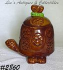 McCOY POTTERY TIMMY TORTOISE COOKIE JAR EXCELLENT CONDITION