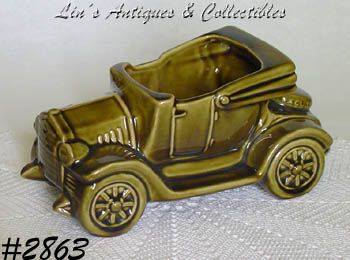 "McCOY POTTERY -- ""EXCUSE MY DUST"" CAR PLANTER"