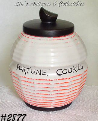 McCOY POTTERY FORTUNE COOKIES VINTAGE COOKIE JAR