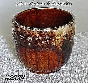 McCOY POTTERY -- BROWN ONYX JARDINIERE