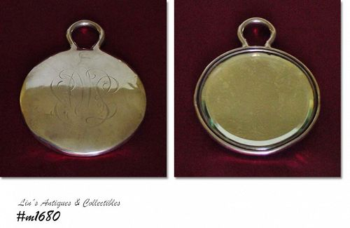 Vintage Sterling Silver Hand Mirror Monogrammed