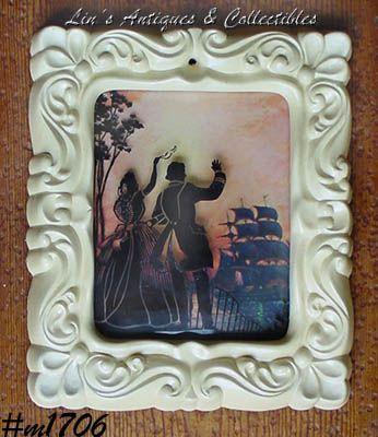 SILHOUETTE IN PLASTER FRAME (MIB) !!!