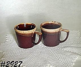 McCOY POTTERY -- ASSORTED BROWN DRIP ITEMS
