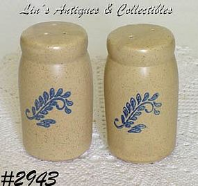 McCOY POTTERY -- BLUEFIELD SALT AND PEPPER