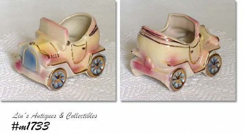 SHAWNEE POTTERY -- AUTO PLANTER WITH GOLD TRIM