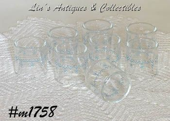 PYREX COMPATIBLES -- GLASS NAPKIN RINGS (8)