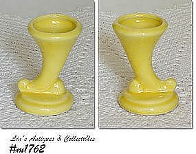 SHAWNEE POTTERY -- MINI CORNUCOPIA VASE (YELLOW)