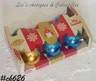 VINTAGE ORNAMENTS -- 6 COBY GLASS ORNAMENTS IN BOX