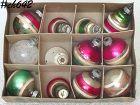 1 DOZEN VINTAGE SHINY BRITE GLASS CHRISTMAS ORNAMENTS