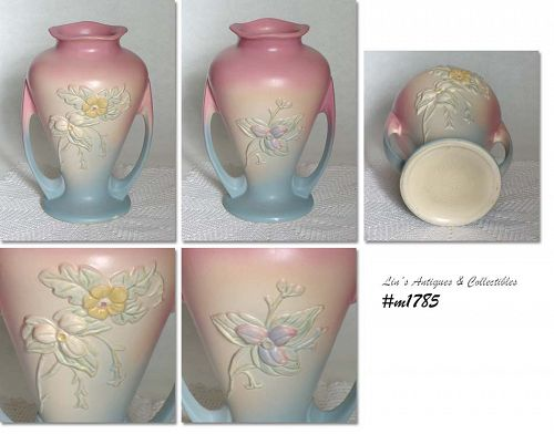 HULL POTTERY VINTAGE WILDFLOWER 9 1/2 INCH TALL VASE
