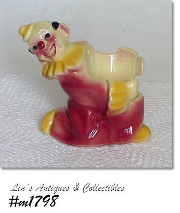 SHAWNEE POTTERY -- CLOWN FLOWERPOT HOLDER