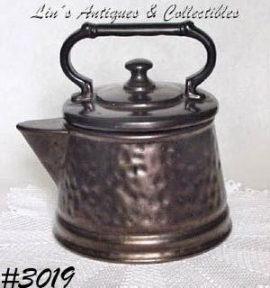 McCOY POTTERY -- BRONZE TEA KETTLE COOKIE JAR