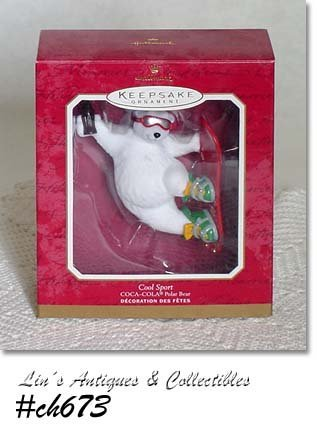 "HALLMARK -- ""COOL SPORT"", COCA-COLA POLAR BEAR DATED 2001"
