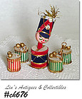 VINTAGE DRUM MAJOR AND 4 DRUM ORNAMENTS