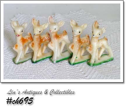 GURLEY CANDLES -- 5 VINTAGE YOUNG RUDOLPH CANDLES