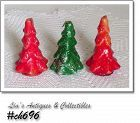 GURLEY CANDLES -- 3 SMALL VINTAGE CHRISTMAS TREES