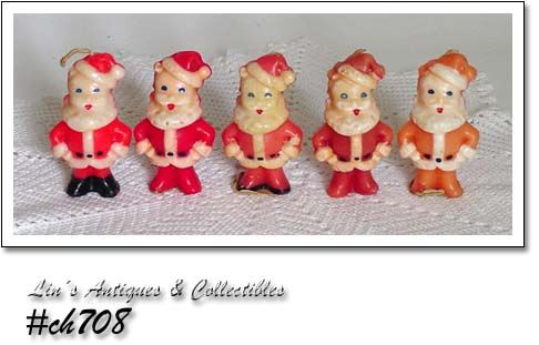 GURLEY CANDLES -- 5 SMALL SANTAS