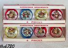 SET OF 8 VINTAGE JEWELBRITE ORNAMENTS IN ORIGINAL BOXES