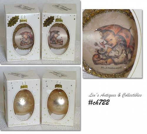 TWO HUMMEL ORNAMENTS DATED 2000 IN ORIGINAL BOXES