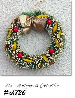 DECORATED VINTAGE BRUSH WREATH