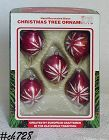 5 MADE IN ROMANIA VINTAGE CHRISTMAS ORNAMENTS IN ORIGINAL BOX
