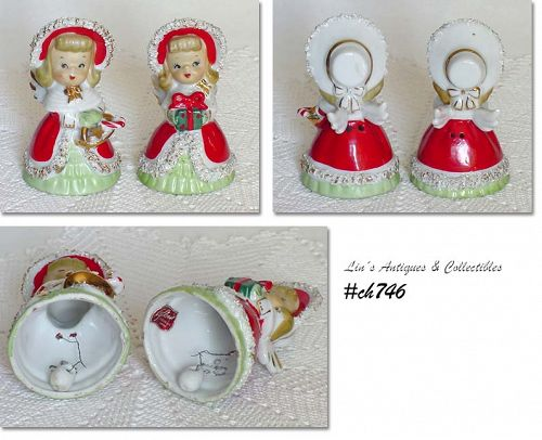 LEFTON -- SET OF 2 VINTAGE ANGEL BELLS