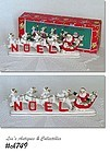 RELCO -- VINTAGE SANTA AND REINDEER NOEL SET IN ORIGINAL BOX