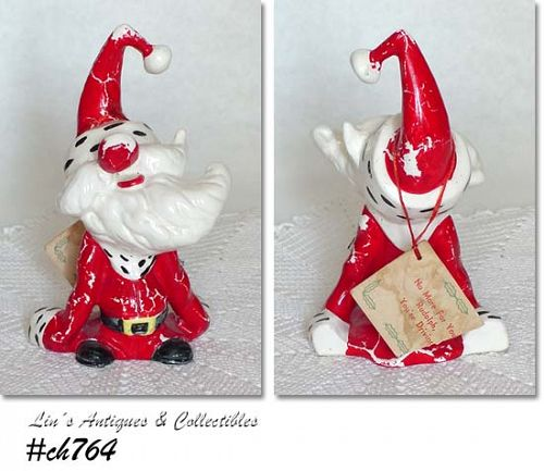 "KREISS & CO. -- VINTAGE PSYCHO SANTA FIGURINE NAMED ""OVERCOME SANTA"""