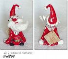 KREISS and CO VINTAGE PSYCHO SANTA FIGURINE NAMED OVERCOME SANTA
