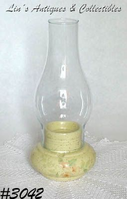 McCOY POTTERY ROMANCE PATTERN CANDLE HOLDER / CANDLE LAMP