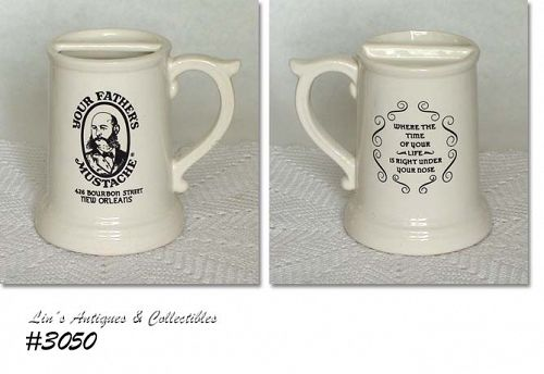 McCOY POTTERY BOURBON STREET YOUR FATHER'S MUSTACHE MUG