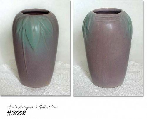 McCOY POTTERY -- ROSE MATTE LEAVES AND BERRIES VASE