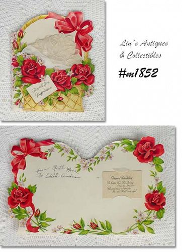 VINTAGE BIRTHDAY HANKY GREETING CARD
