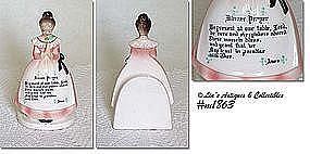 ENESCO PRAYER LADY NAPKIN HOLDER