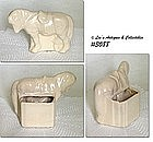 McCOY POTTERY -- HORSE PLANTER (WHITE)