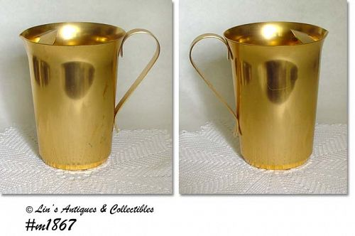 ALUMINUMWARE VINTAGE COLOR CRAFT GOLD COLOR  PITCHER