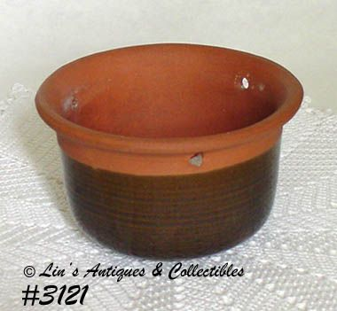 McCOY POTTERY -- RED CLAY LINE HANGING PLANTER