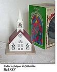 VINTAGE LIGHTED ALPINE VILLAGE CHURCH IN ORIGINAL BOX