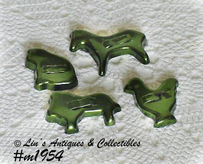 ALUMINUMWARE -- 4 ANIMAL SHAPE COOKIE CUTTERS (MINIS)