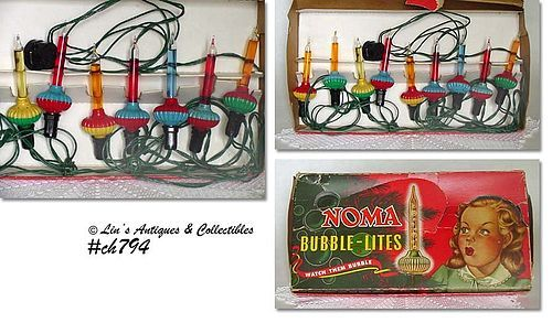 VINTAGE NOMA BUBBLE LIGHTS IN ORIGINAL BOX