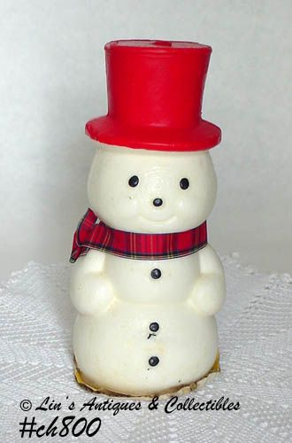 VINTAGE SNOWMAN CANDLE MADE BY SUNI CANDLE COMPANY