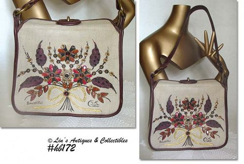 "COLLINS OF TEXAS ""BOUNTIFUL"" VINTAGE HANDBAG"