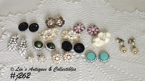 1 DOZEN PAIRS OF VINTAGE CLIP BACK STYLE EARRINGS
